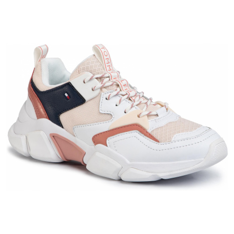 Sneakersy TOMMY HILFIGER - Chunky Lifestyle Sneaker FW0FW04695 Brick Rose GNQ
