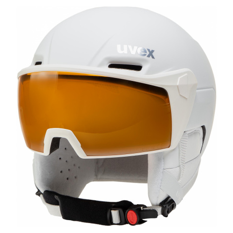 Kask narciarski UVEX - Hlmt 700 Visor 5662371003 White Mat