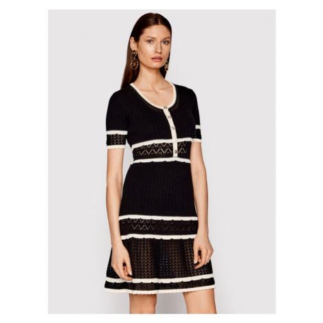 Pinko Sukienka dzianinowa Fantasia PE 21 BLK01 1G15PW Y6T5 Czarny Regular Fit