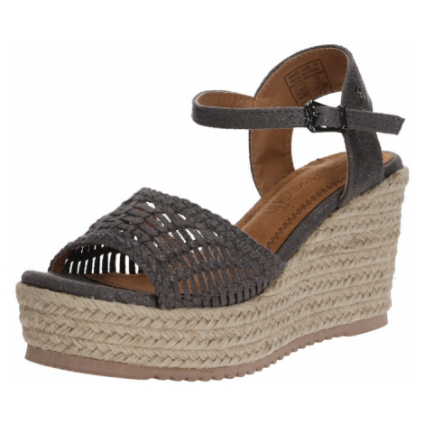 Refresh Sandały z rzemykami ciemnoszary