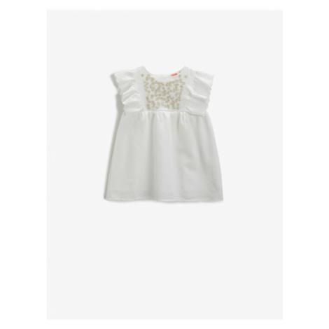 Koton Embroidered Dress Cotton