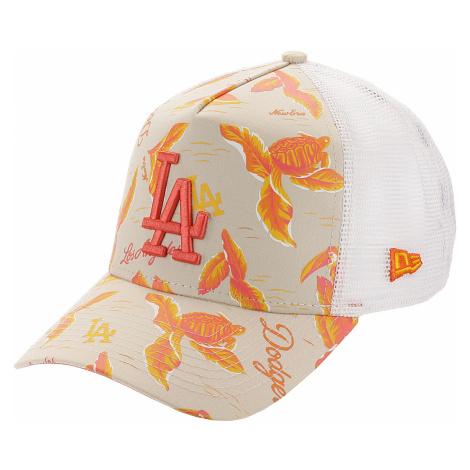 czapka z daszkiem New Era 9FO AF Desert Island Trucker MLB Los Angeles Dodgs - Soft Coral X Prin