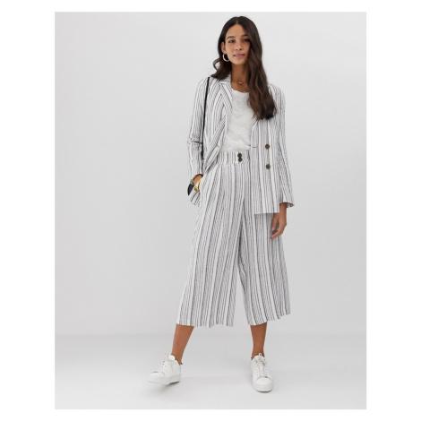 ASOS DESIGN gutsy linen culottes in stripe