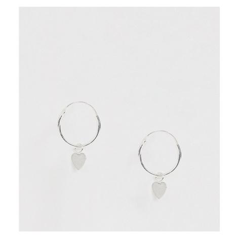 Kingsley Ryan sterling silver heart drop hoop earrings