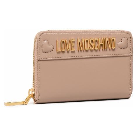 Duży Portfel Damski LOVE MOSCHINO - JC5644PP0BKN0209 Taupe