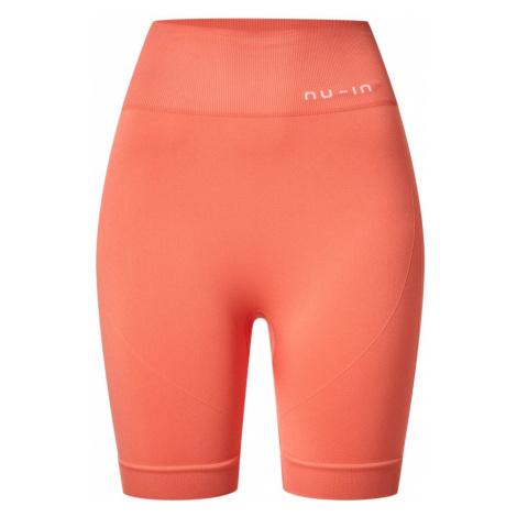 NU-IN Spodnie sportowe 'Cycling Shorts' pomarańczowy