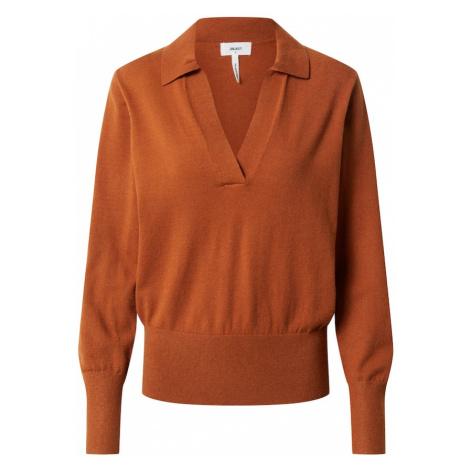 OBJECT Sweter 'OBJMIRANDA' pomarańczowo-czerwony