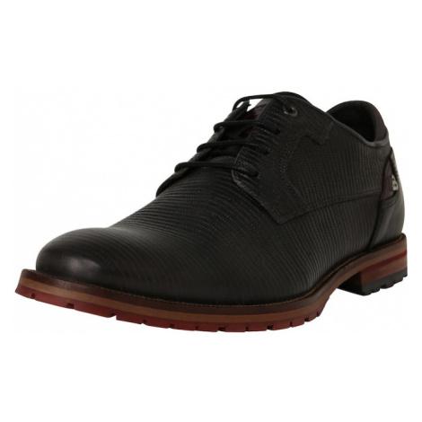 BULLBOXER Buty sznurowane czarny / brązowy
