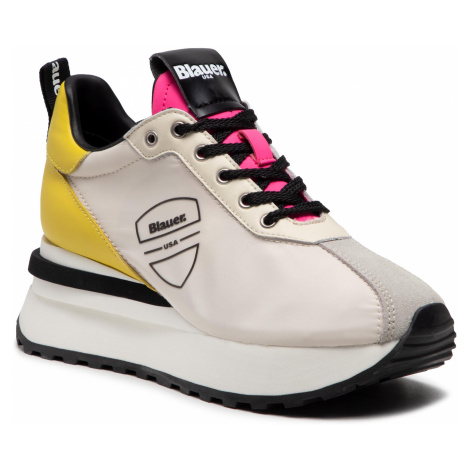 Sneakersy BLAUER - S1MABEL01/NYP Yellow/Fuxia