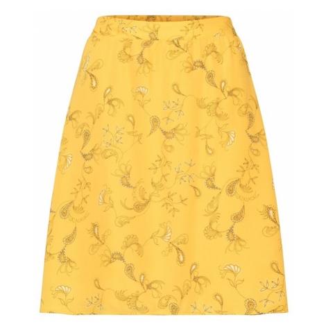 VILA Spódnica żółty