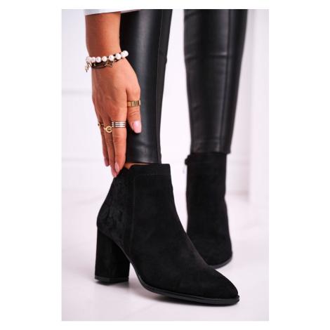 Damskie buty na wysokim obcasie Sergio Leone Czarny BT508