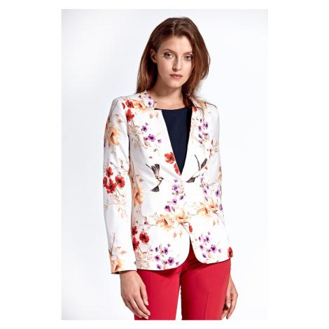 Colett Woman's Jacket Cz06 Pattern Ecru