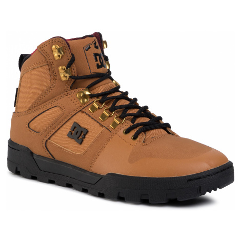 Sneakersy DC - Pure High-Top Wr Boot ADYB100006 Wheat/Black WEA