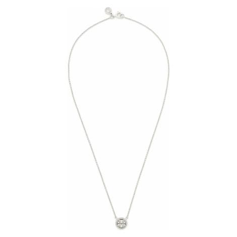 Zestaw naszyjnik i kolczyki TORY BURCH - Miller Pave Pendant And Stud Earring Set 80320 Tory Sil