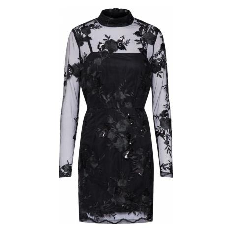 Missguided Sukienka koktajlowa 'Lace Sequin Bodycon Long Sleeved' czarny