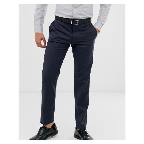 Calvin Klein textured slim fit trousers