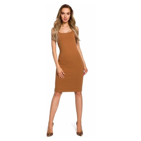 Made Of Emotion Woman's Dress M414 Caramel