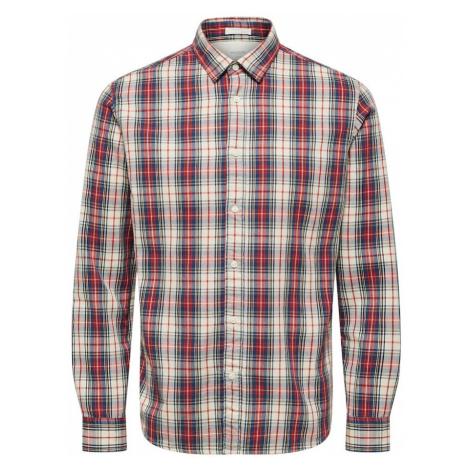 SELECTED HOMME Koszula czerwony / niebieska noc / beżowy