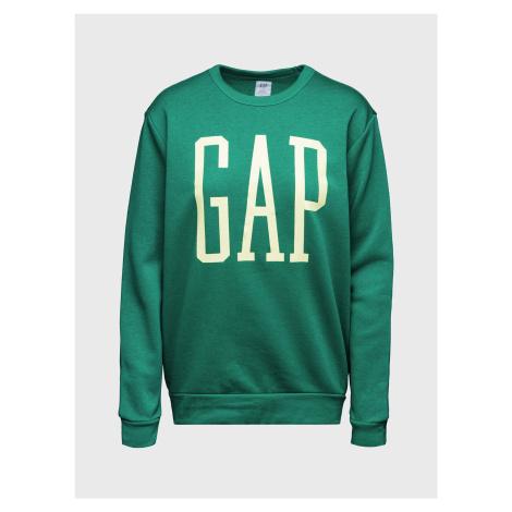 GAP zielona bluza męska Logo pullover sweatshirt
