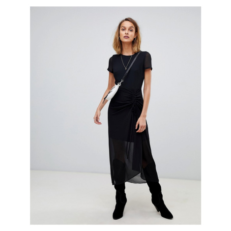 AllSaints dress with rouched detail