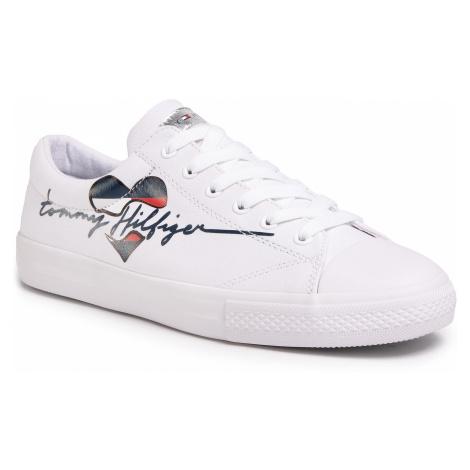 Trampki TOMMY HILFIGER - Low Cut Lace Up Sneaker T3A4-30600-0924 S White 100