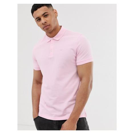 Emporio Armani logo polo in pink