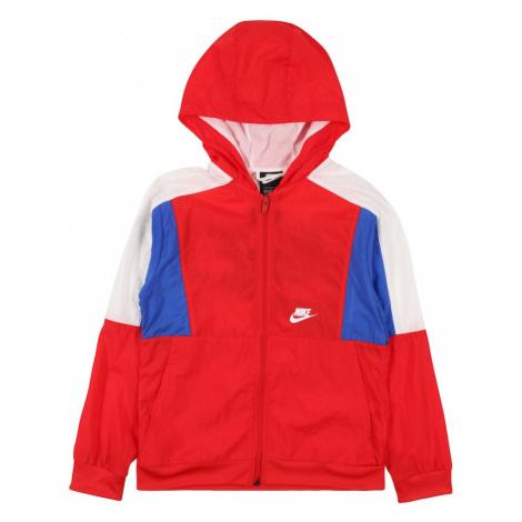 Nike Sportswear Kurtka przejściowa królewski błękit / czerwony / naturalna biel