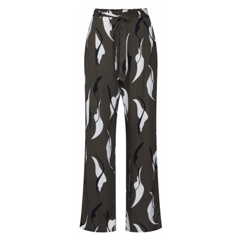 OBJECT Spodnie 'Alora' zielony / oliwkowy / ciemnozielony