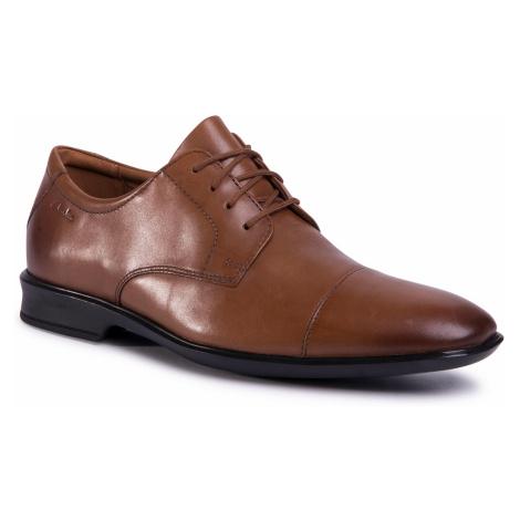 Półbuty CLARKS - Bensley Cap 261485267 Dark Tan Leather