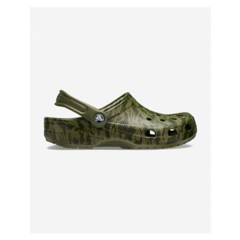Crocs Classic Printed Camo Clog Crocs Zielony