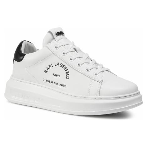 Sneakersy KARL LAGERFELD - KL52538 White Lthr