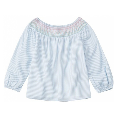 Abercrombie & Fitch Bluzka 'SB19-J2 SMOCKED 3/4 FASHION TOP 2CC' niebieski
