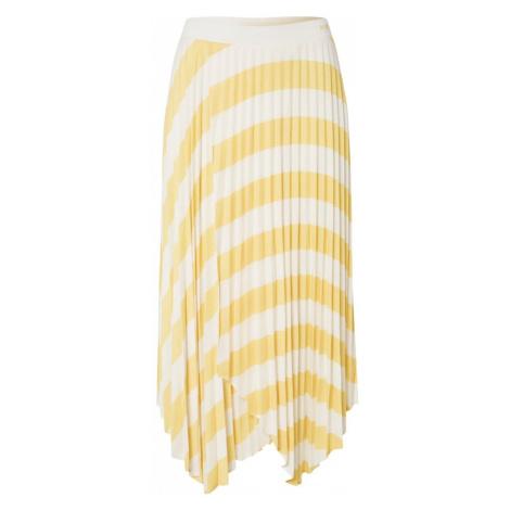 BOSS Spódnica 'Trena' biały / żółty Hugo Boss