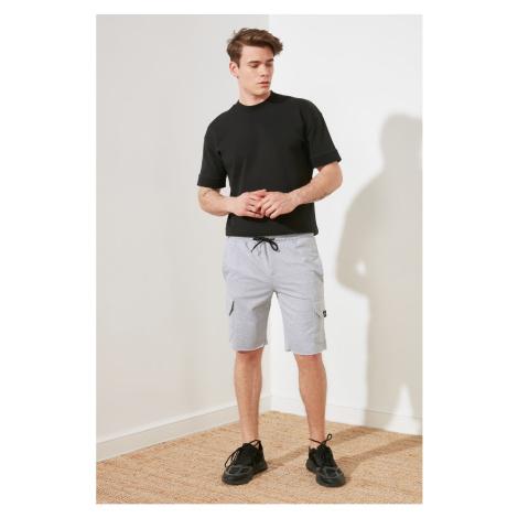 Trendyol Gray Męskie Szorty fit & Bermudy