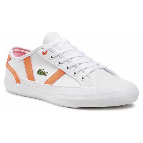 Sneakersy LACOSTE - Sideline 0721 1 Cuj 7-41CUJ0015B53 Wht/Pnk