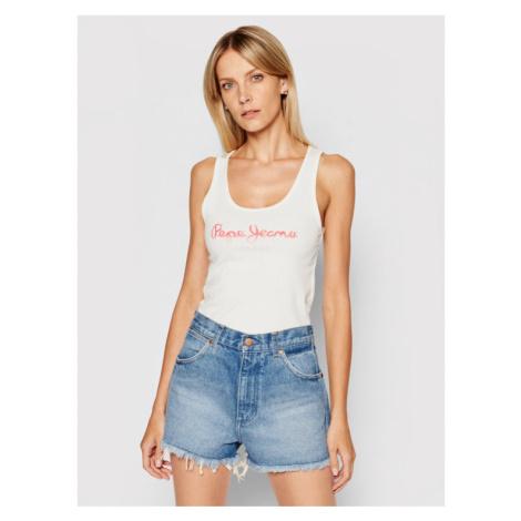 Pepe Jeans Top Dunia PL504853 Biały Regular Fit