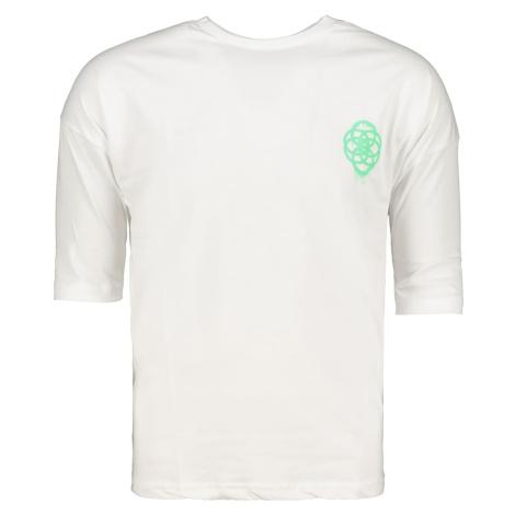 Trendyol White Male Oversize Back T-Shirt z nadrukiem