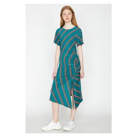 Koton Women Green Striped Dress