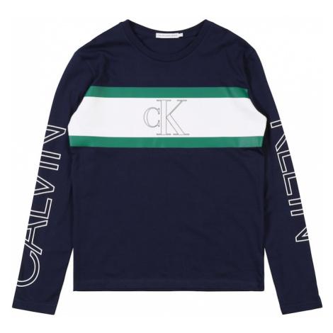 Calvin Klein Jeans Koszulka 'LOGO COLOUR BLOCK LS' granatowy