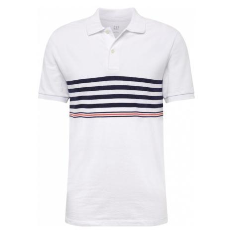 GAP Koszulka 'V-PIQUE POLO STRIPE' ciemny niebieski / czerwony / biały