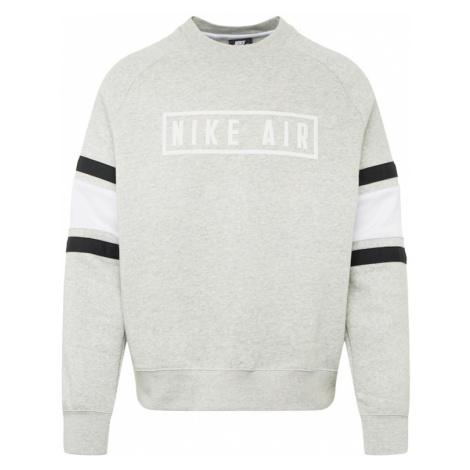 Nike Sportswear Bluzka sportowa jasnoszary / czarny / biały
