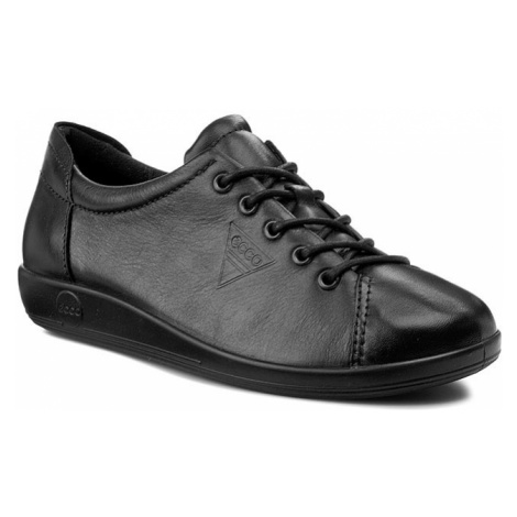 Półbuty ECCO - Soft 2.0 20650356723 Black With Black Sole