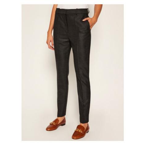Victoria Victoria Beckham Spodnie materiałowe Flannel 2420WTR002008A Szary Regular Fit