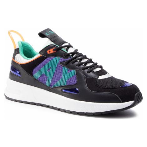 Sneakersy ARMANI EXCHANGE - XUX070 XV241 K496 Black/Purple