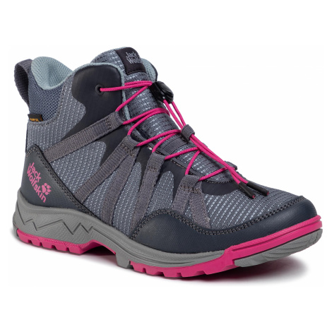Trekkingi JACK WOLFSKIN - Thunderbolt Texapore Mid K 4036061 Pebble Grey/Pink