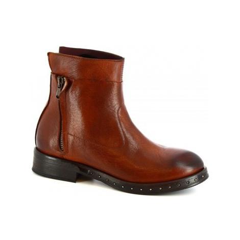 Botki Leonardo Shoes 6918/2 MATRIX RUGGINE