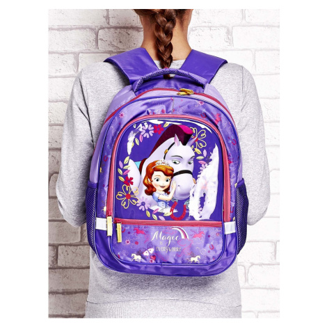 School backpack for girls, SOFIA THE FIRST theme
