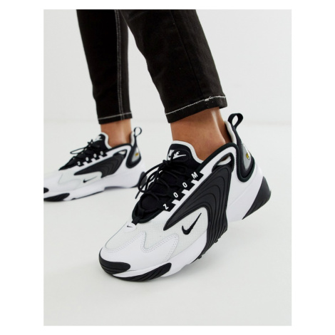 Nike White And Black Zoom 2K Trainers