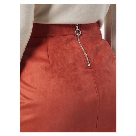 VERO MODA Spódnica pomarańczowo-czerwony