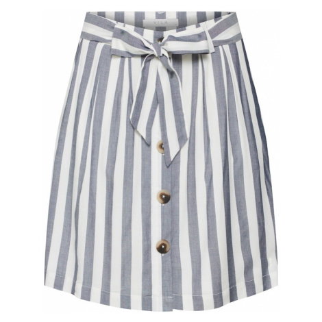 VILA Spódnica 'VIHARPER SKIRT' gołąbkowo niebieski / biały